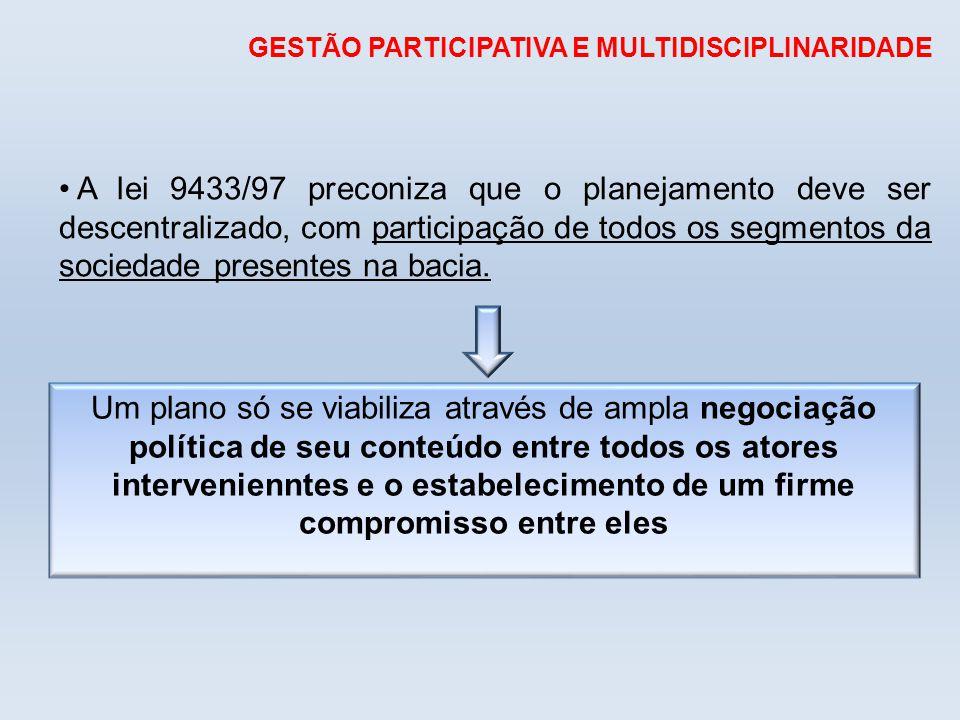 GESTÃO PARTICIPATIVA E MULTIDISCIPLINARIDADE