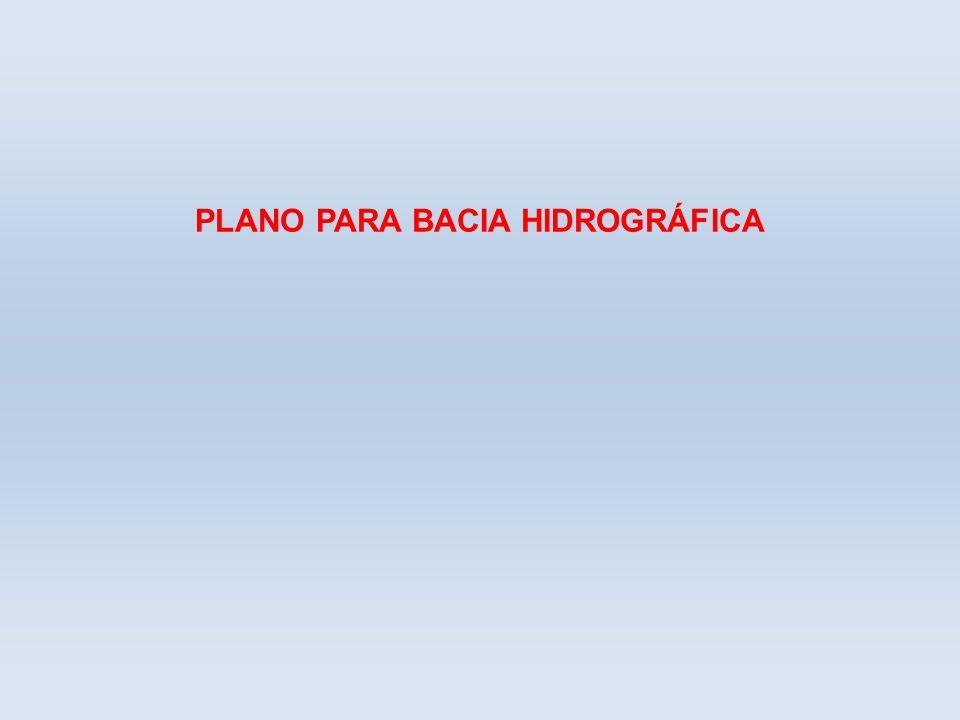 PLANO PARA BACIA HIDROGRÁFICA