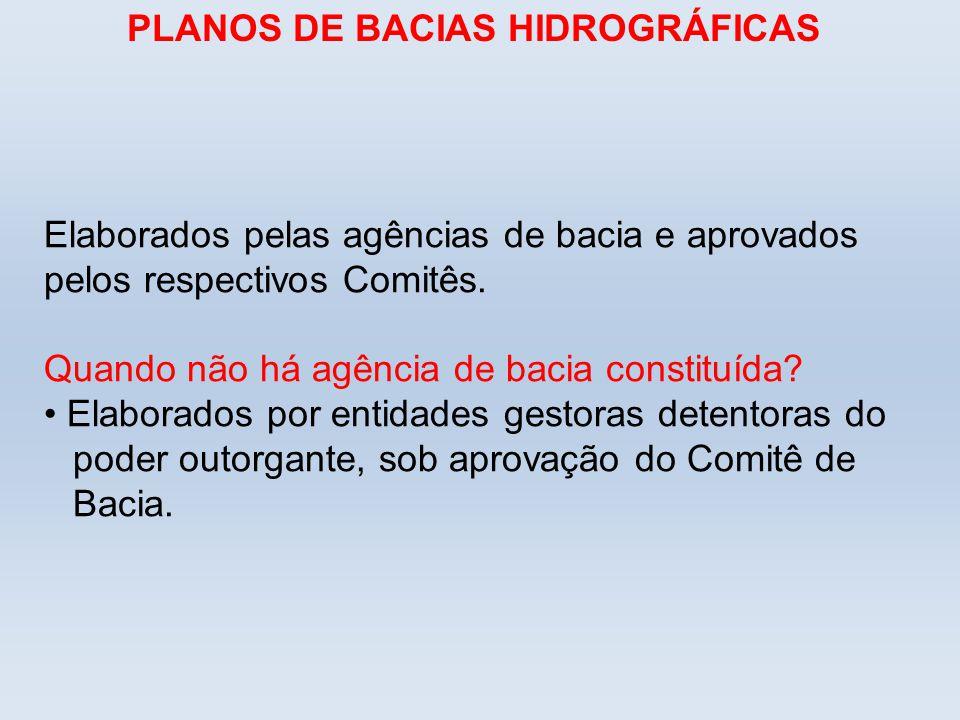 PLANOS DE BACIAS HIDROGRÁFICAS