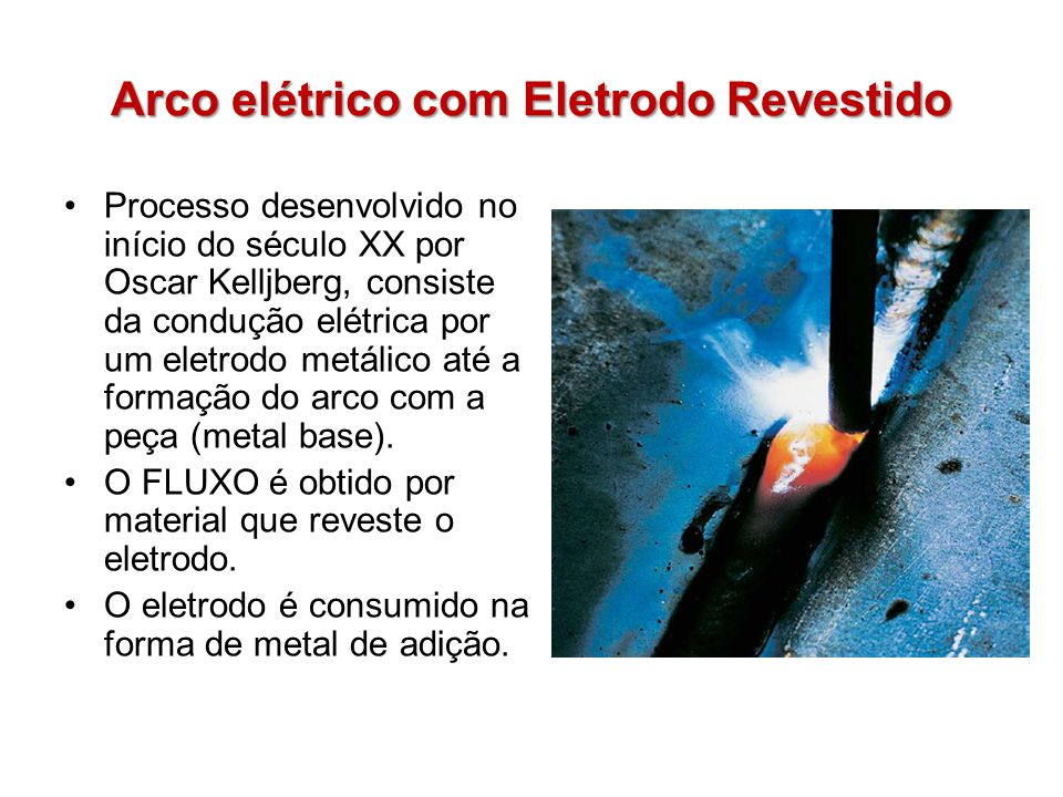 Arco elétrico com Eletrodo Revestido
