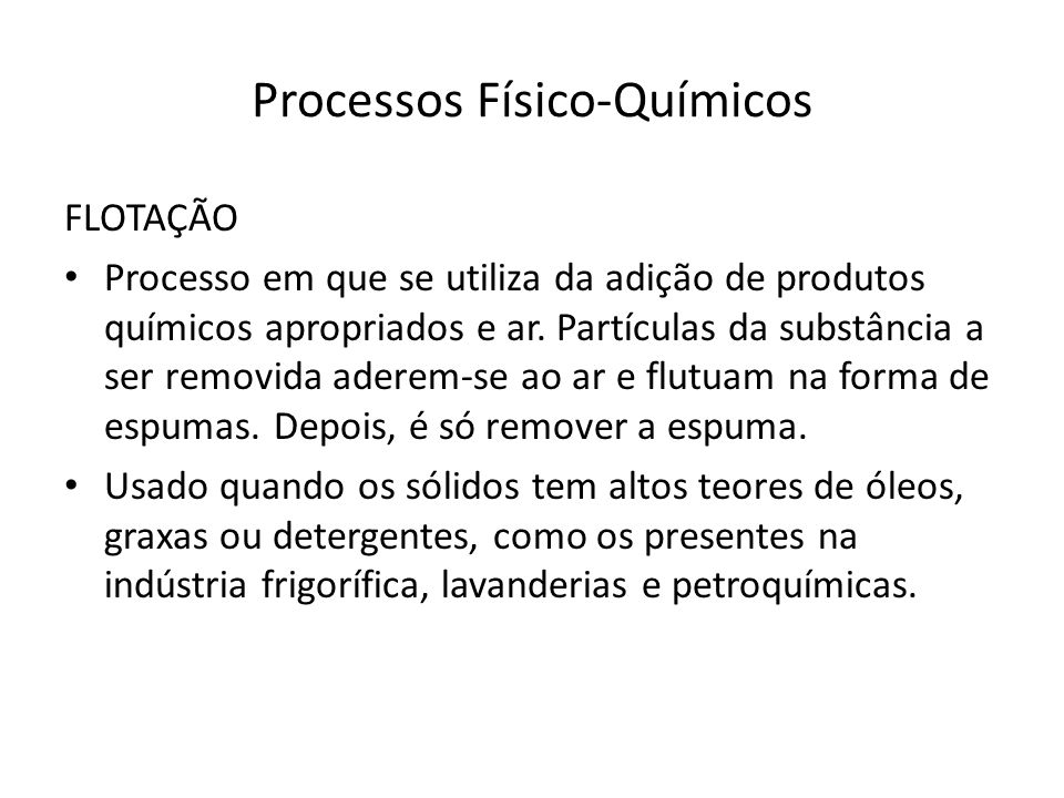 Processos Físico-Químicos