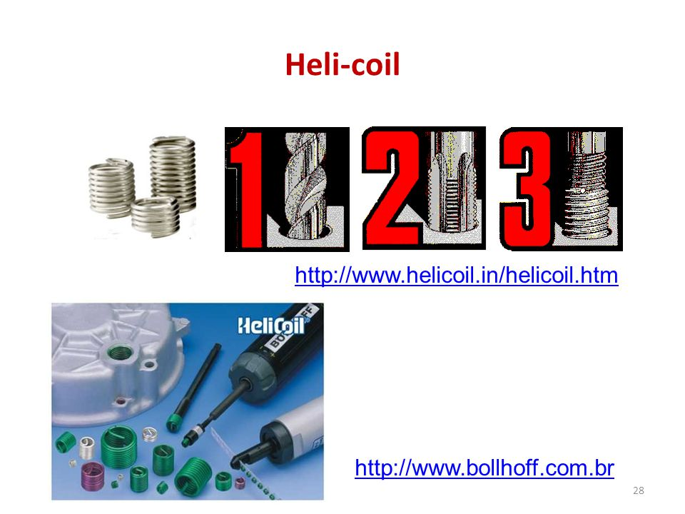 Heli-coil http://www.helicoil.in/helicoil.htm