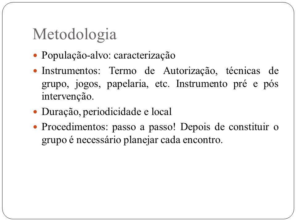 Metodologia População-alvo: caracterização