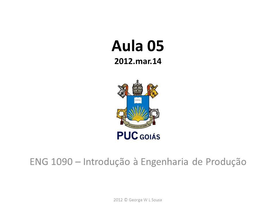 ENG 1090 – Introdução à Engenharia de Produção