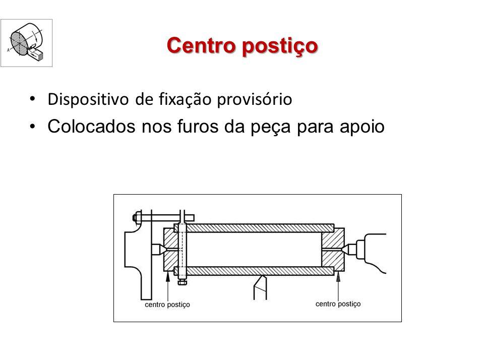 Centro postiço Dispositivo de fixação provisório