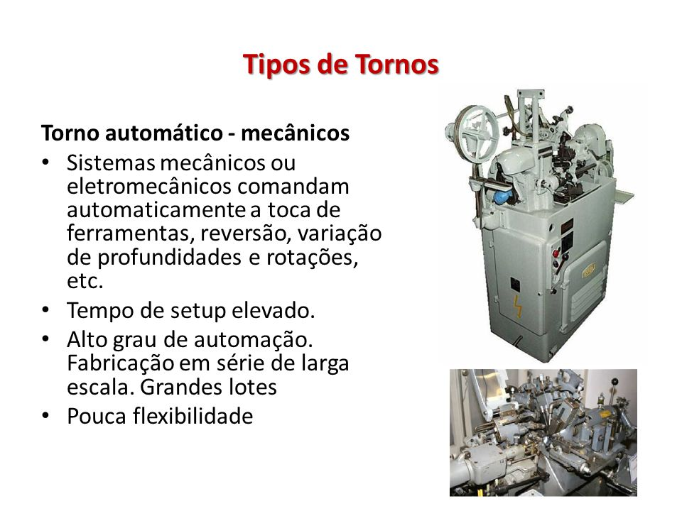Tipos de Tornos Torno automático - mecânicos