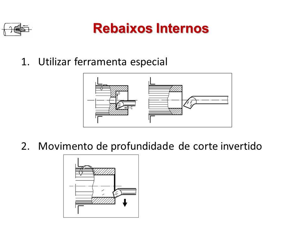 Rebaixos Internos Utilizar ferramenta especial