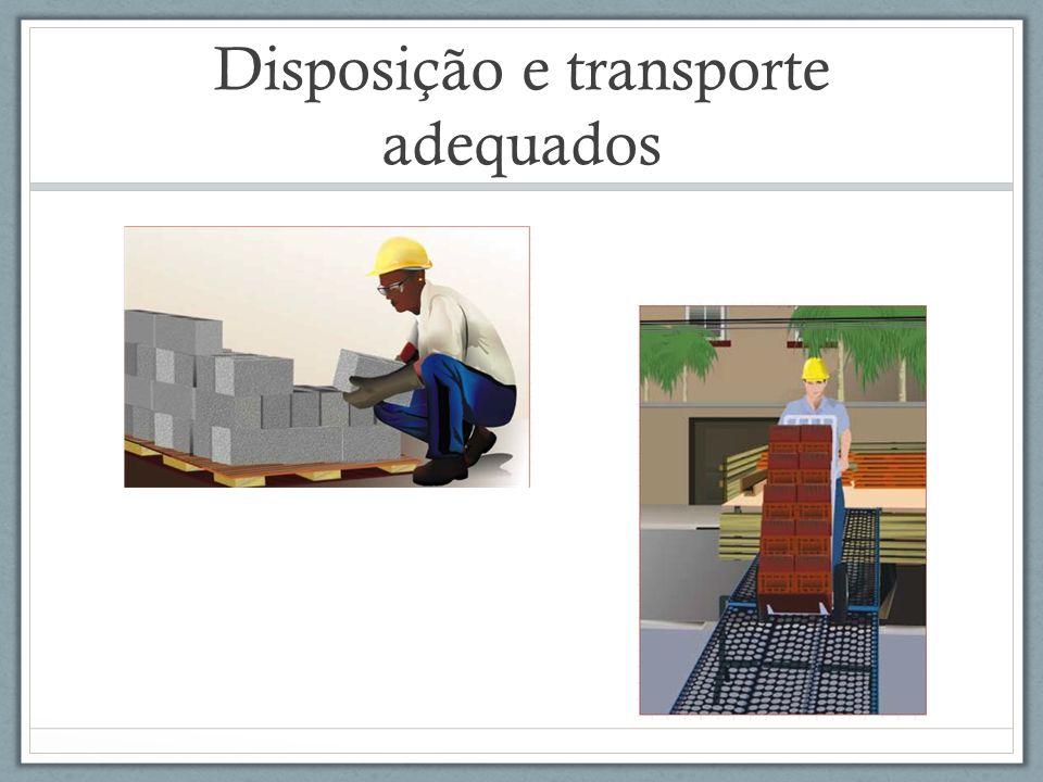Disposição e transporte adequados