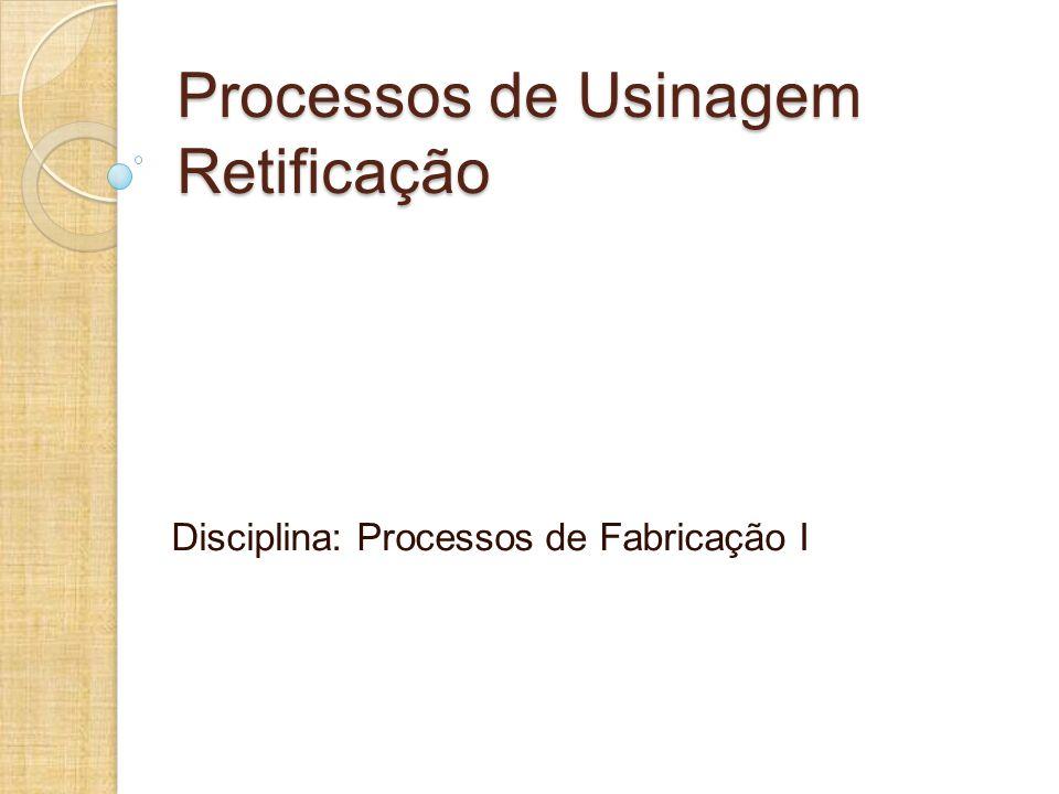 Processos de Usinagem Retificação