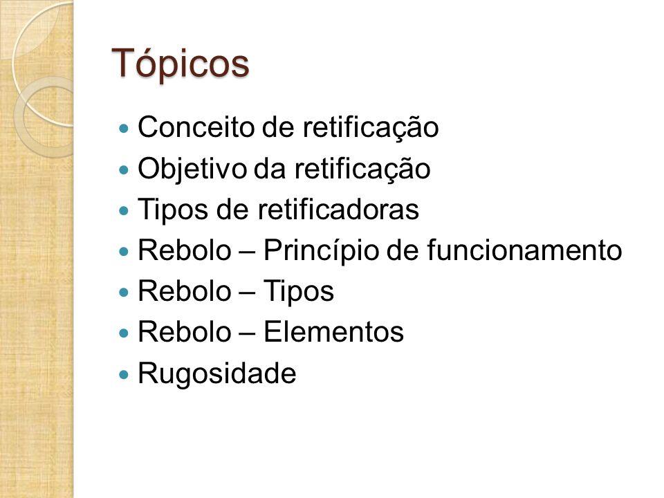Tópicos Conceito de retificação Objetivo da retificação