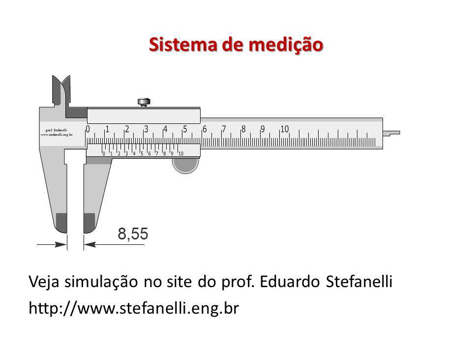 Sistema de medição Veja simulação no site do prof. Eduardo Stefanelli http://www.stefanelli.eng.br