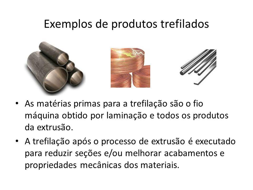 Exemplos de produtos trefilados