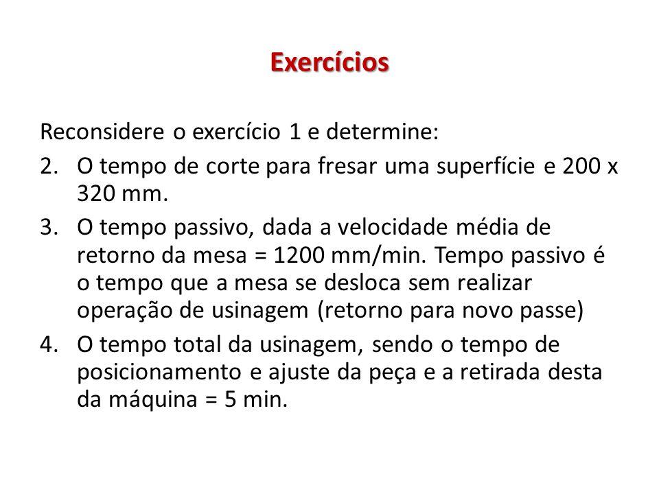 Exercícios Reconsidere o exercício 1 e determine: