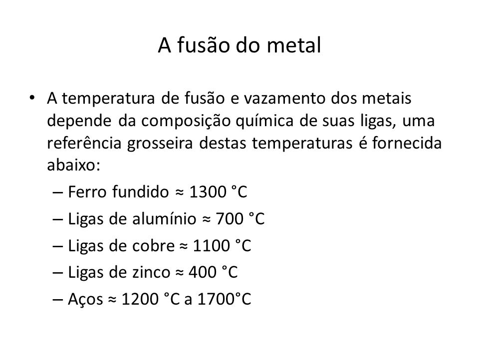 A fusão do metal