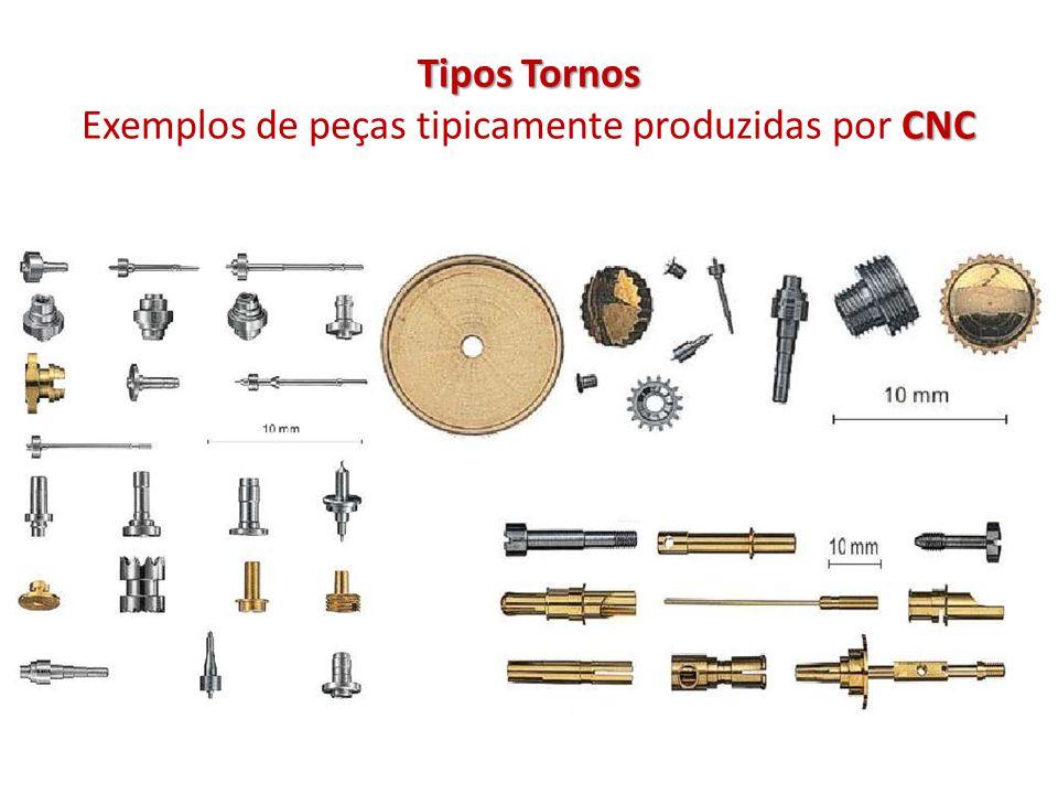 Tipos Tornos Exemplos de peças tipicamente produzidas por CNC