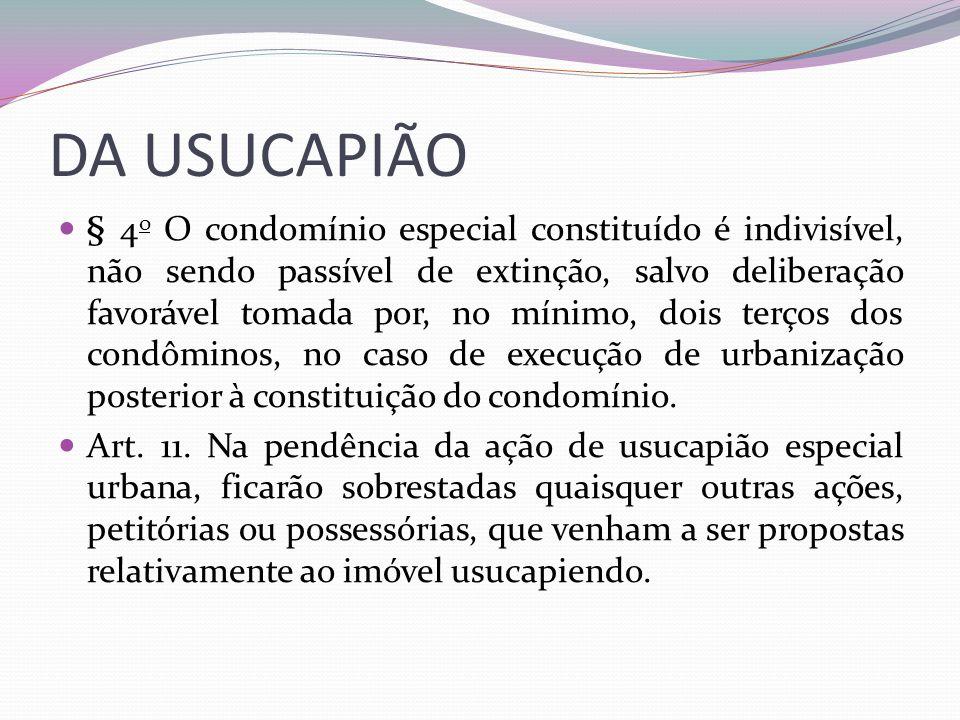 DA USUCAPIÃO