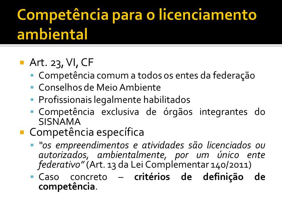 Competência para o licenciamento ambiental