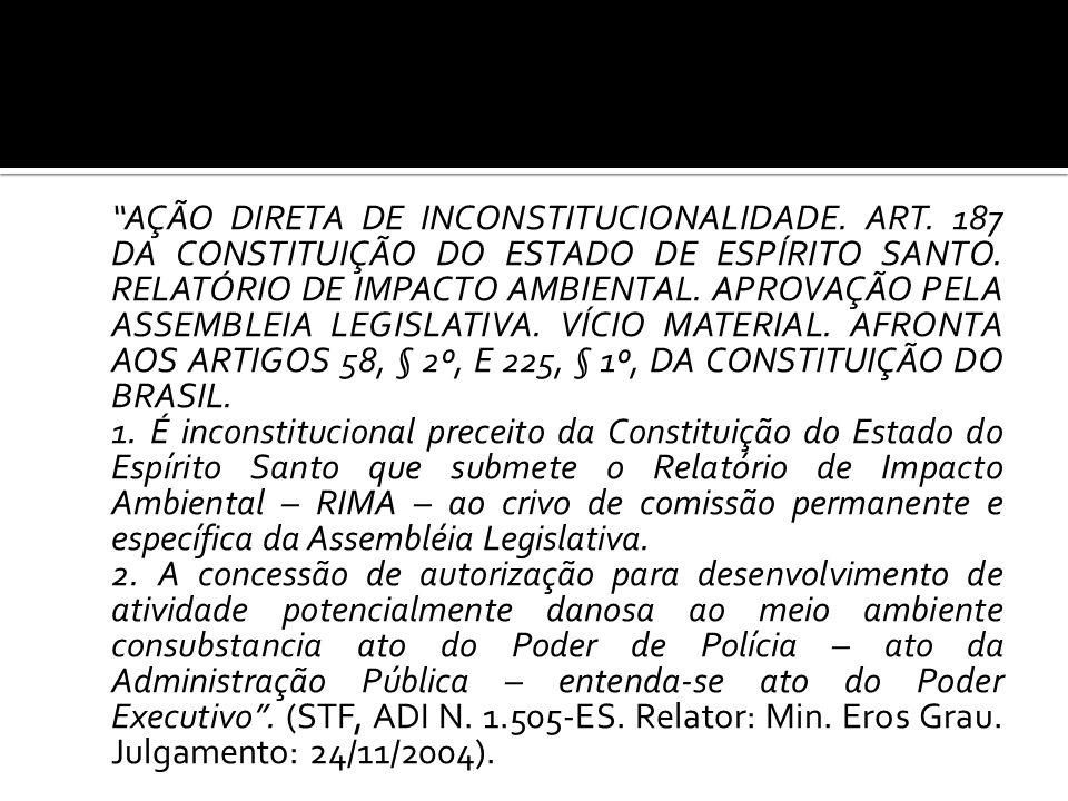 AÇÃO DIRETA DE INCONSTITUCIONALIDADE. ART
