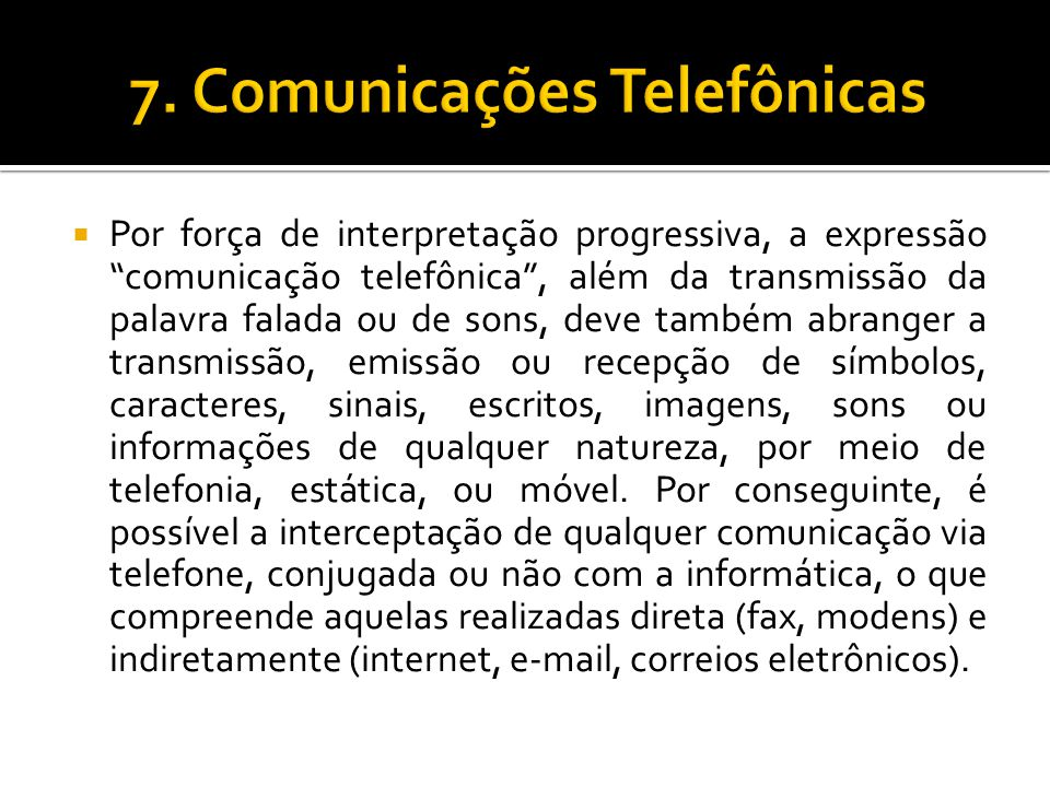 7. Comunicações Telefônicas