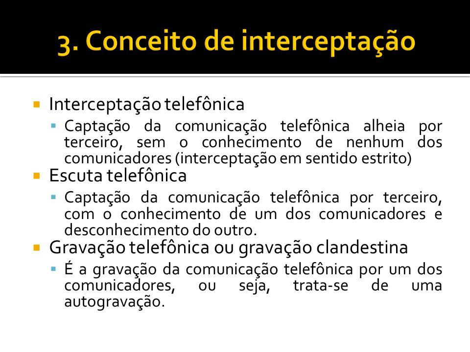 3. Conceito de interceptação