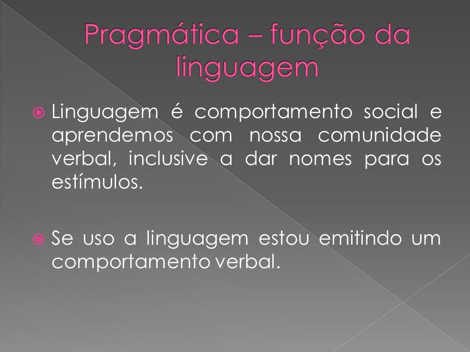 Pragmática – função da linguagem