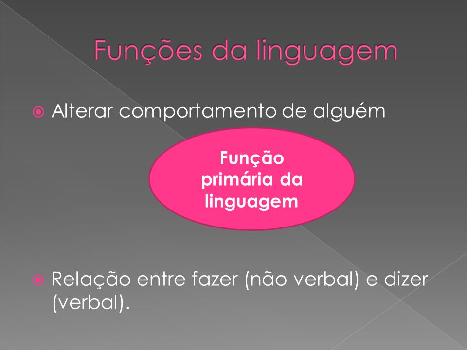 Função primária da linguagem