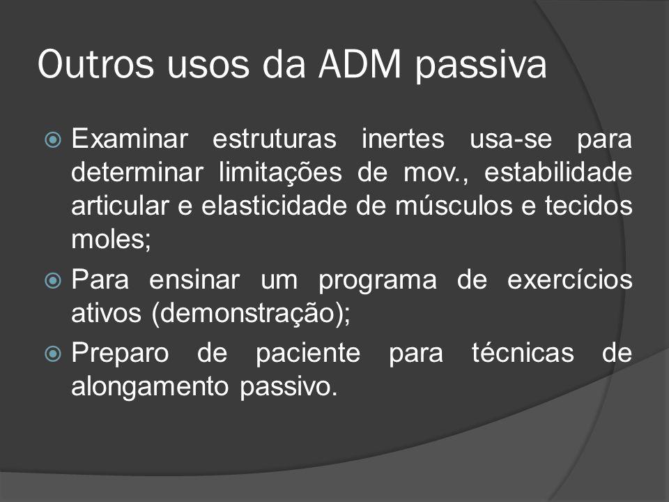 Outros usos da ADM passiva