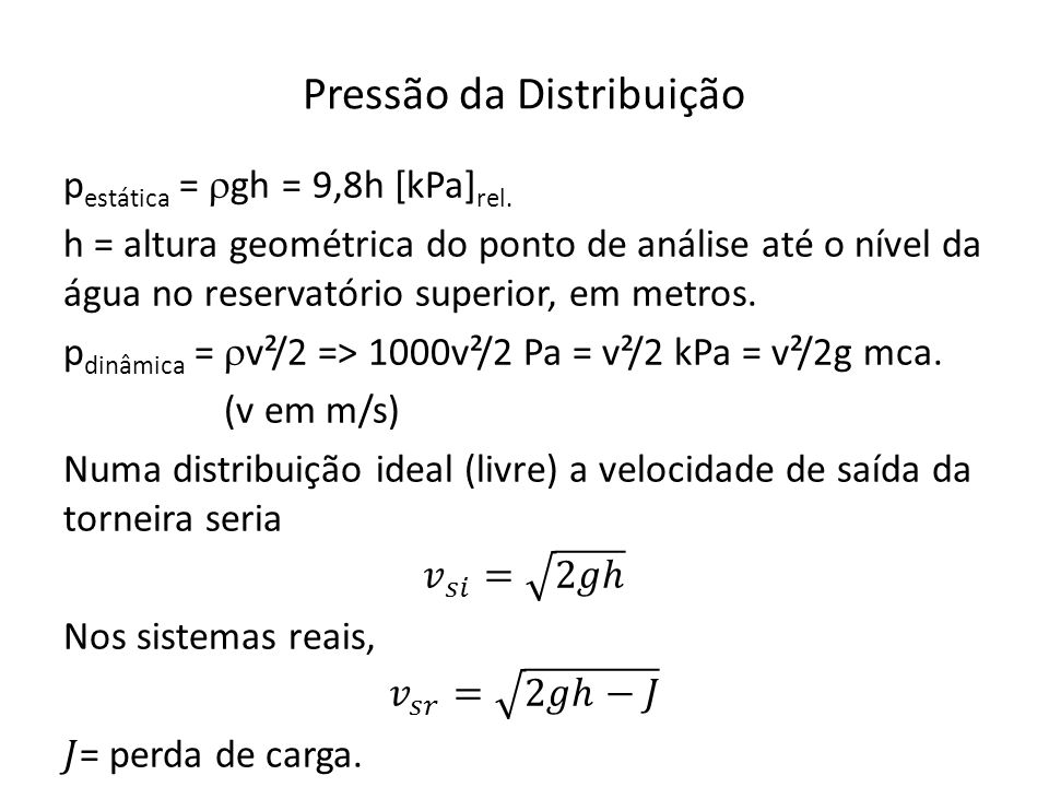 Pressão da Distribuição