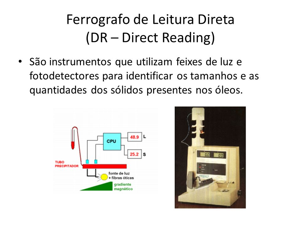 Ferrografo de Leitura Direta (DR – Direct Reading)