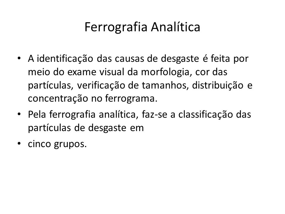 Ferrografia Analítica