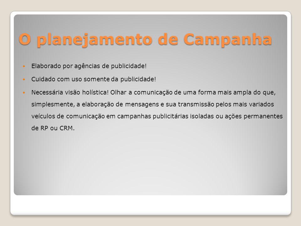 O planejamento de Campanha