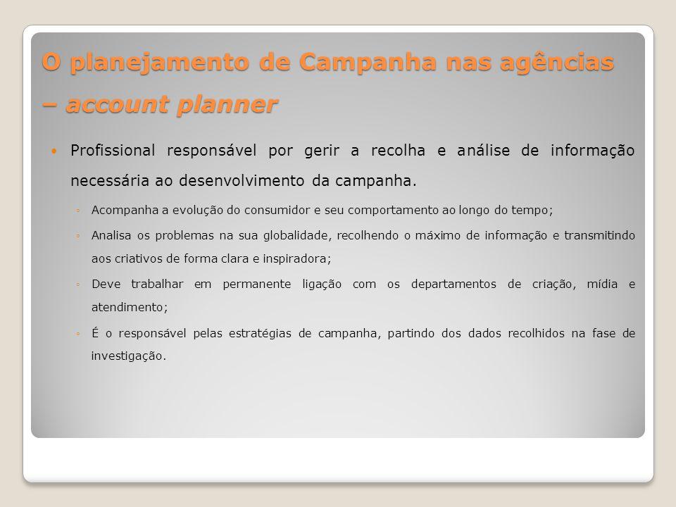 O planejamento de Campanha nas agências – account planner