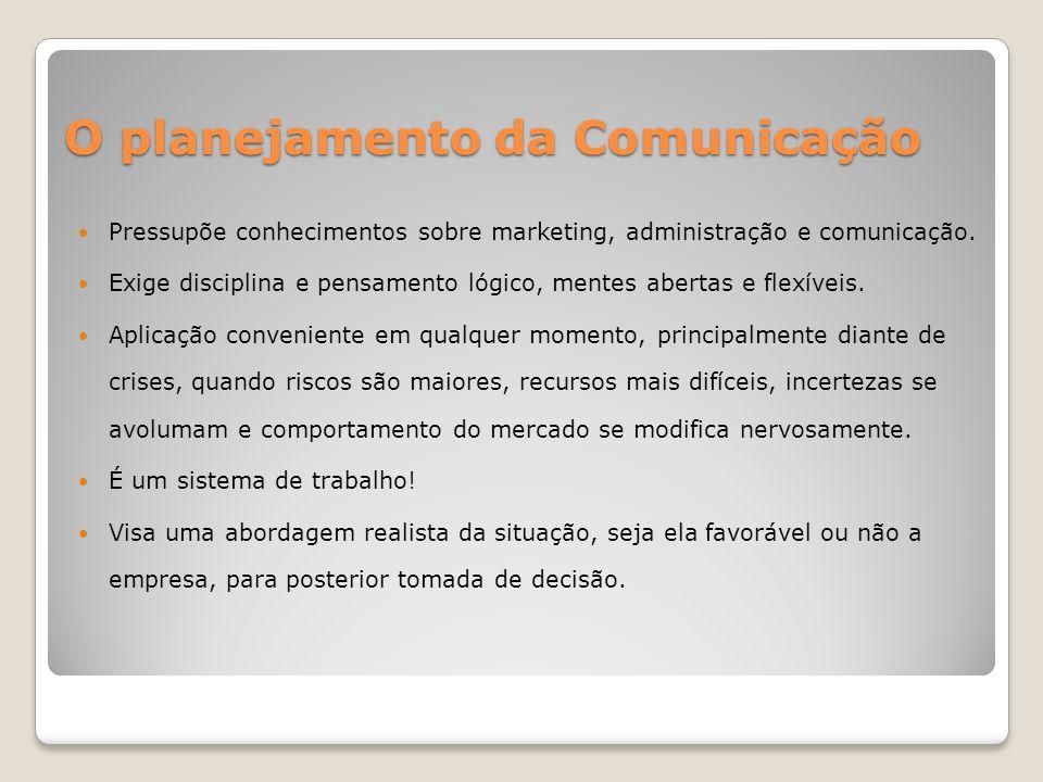 O planejamento da Comunicação