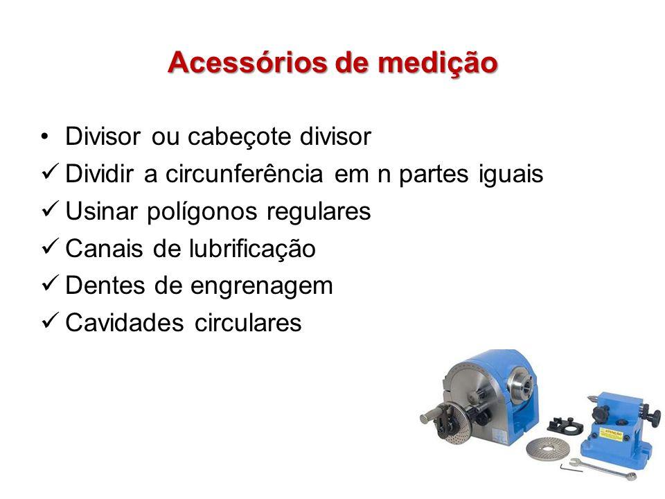 Acessórios de medição Divisor ou cabeçote divisor