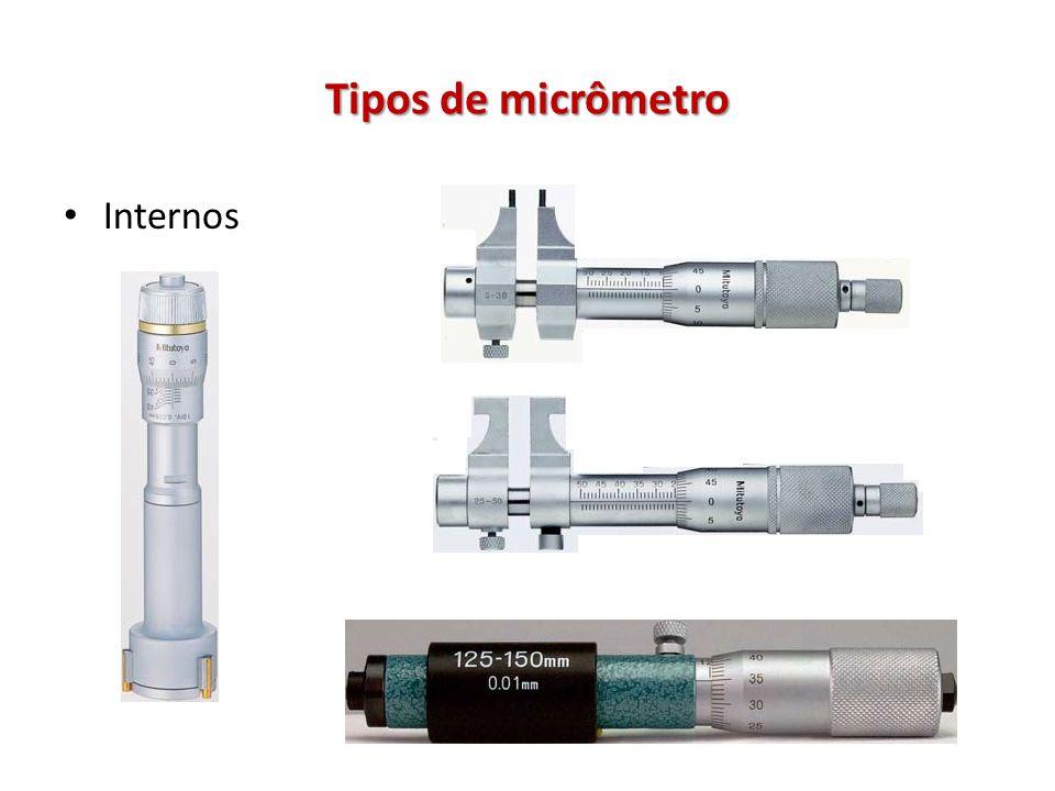 Tipos de micrômetro Internos