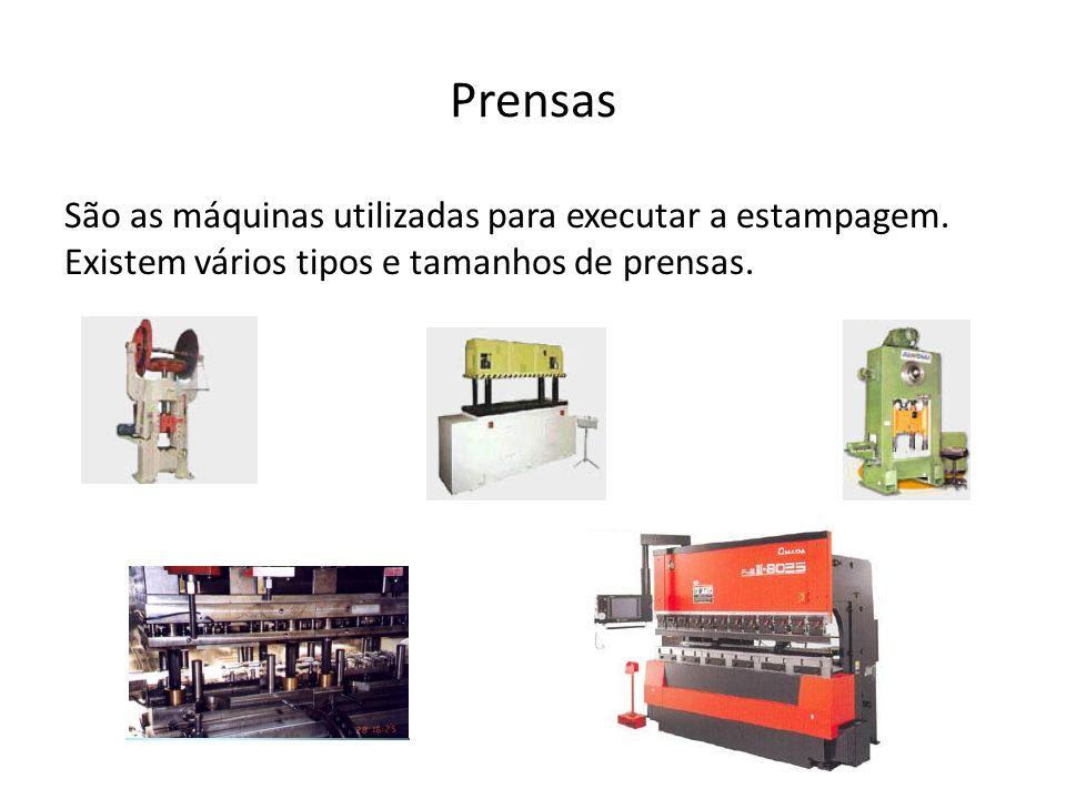 Prensas São as máquinas utilizadas para executar a estampagem.