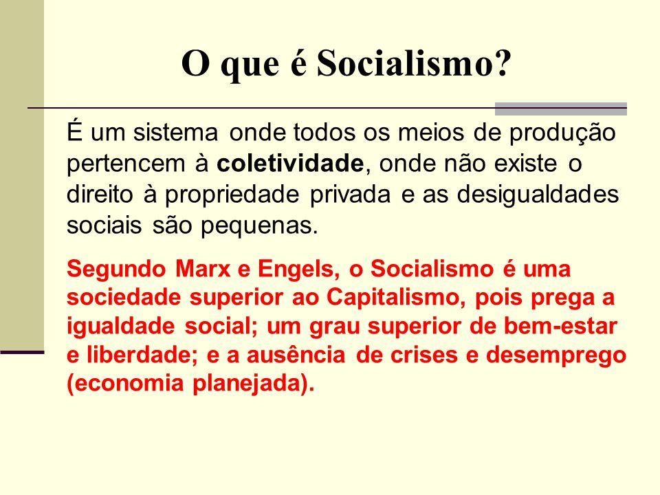 O que é Socialismo