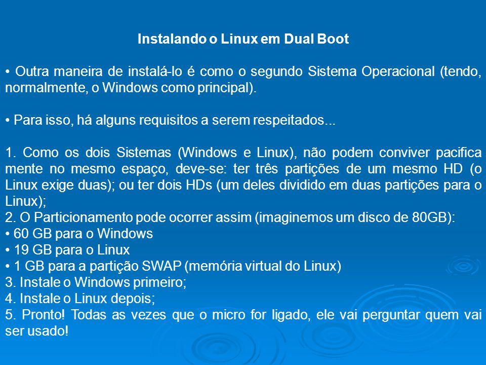 Instalando o Linux em Dual Boot