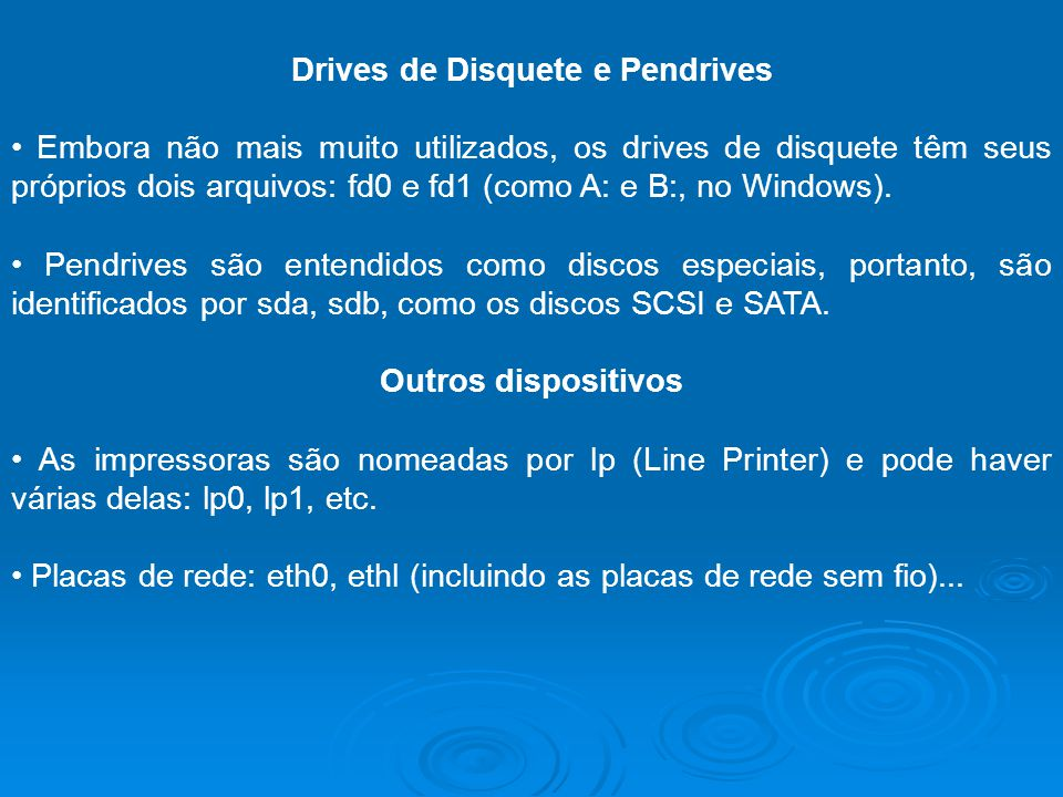 Drives de Disquete e Pendrives