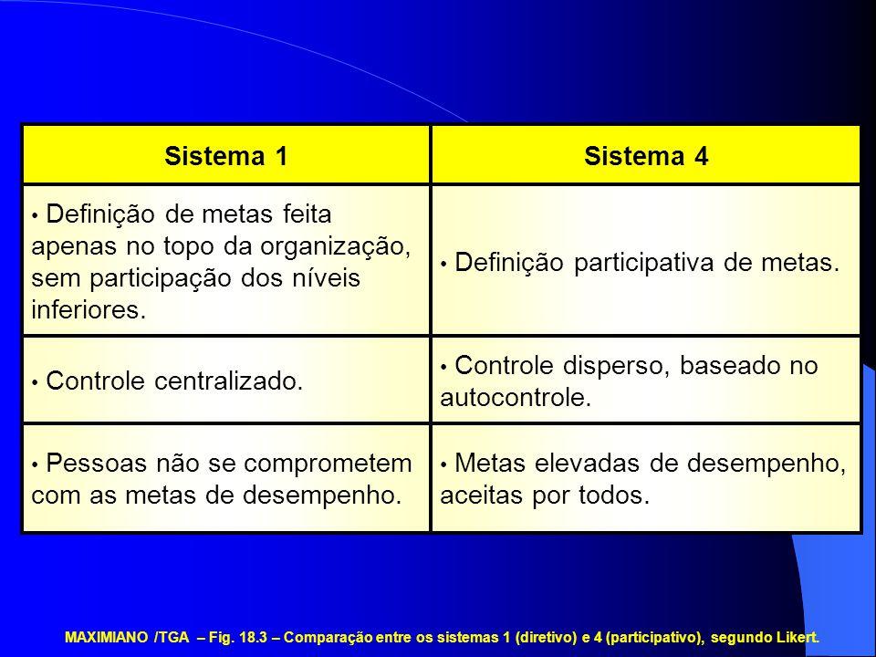 Definição participativa de metas.
