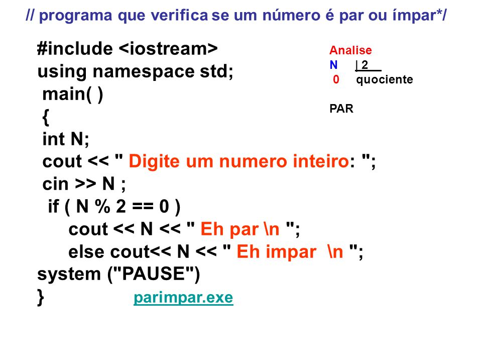 #include <iostream> using namespace std; main( ) { int N;