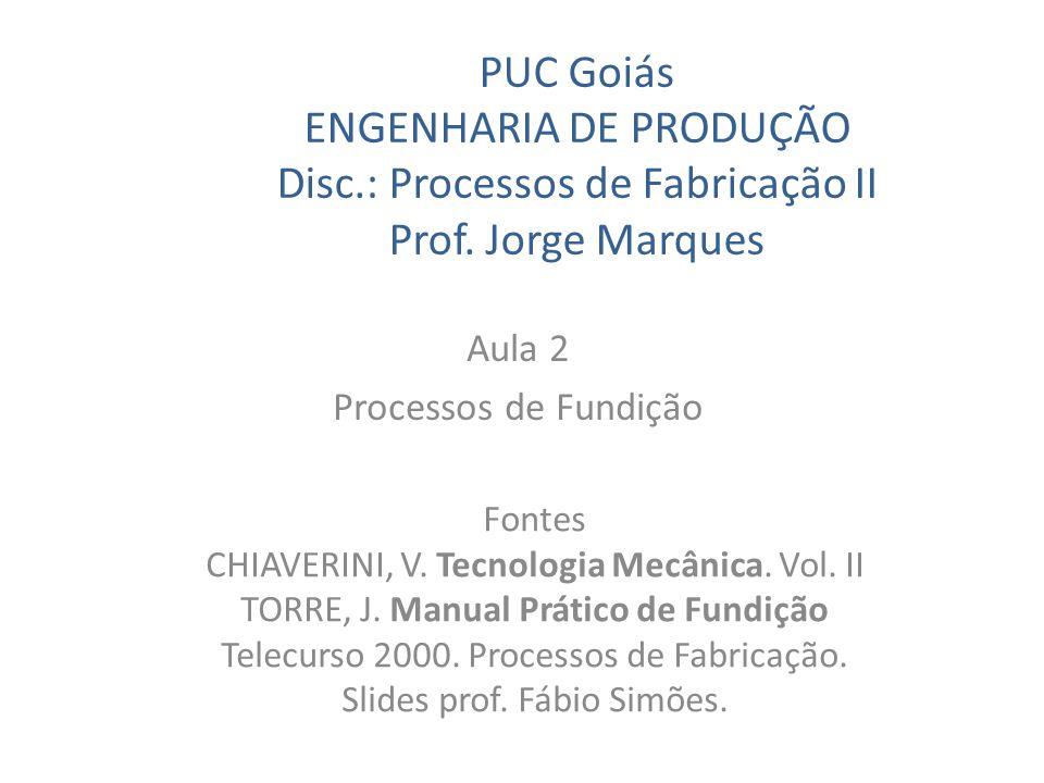 Aula 2 Processos de Fundição