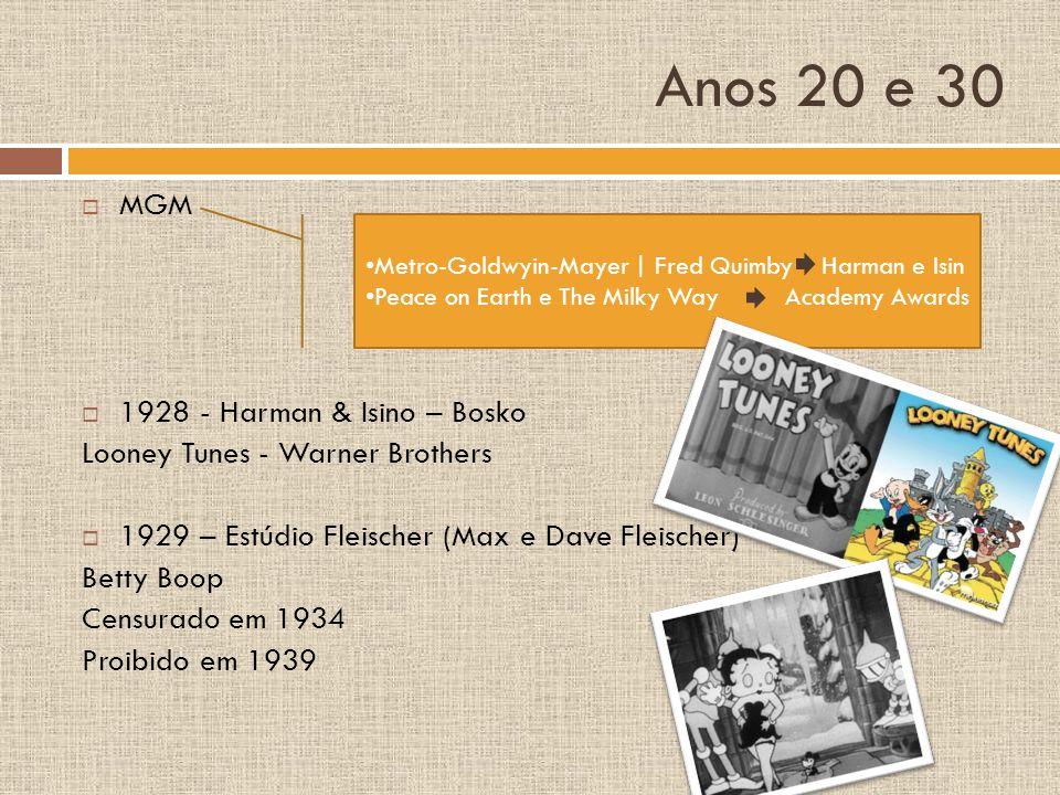 Anos 20 e 30 MGM 1928 - Harman & Isino – Bosko