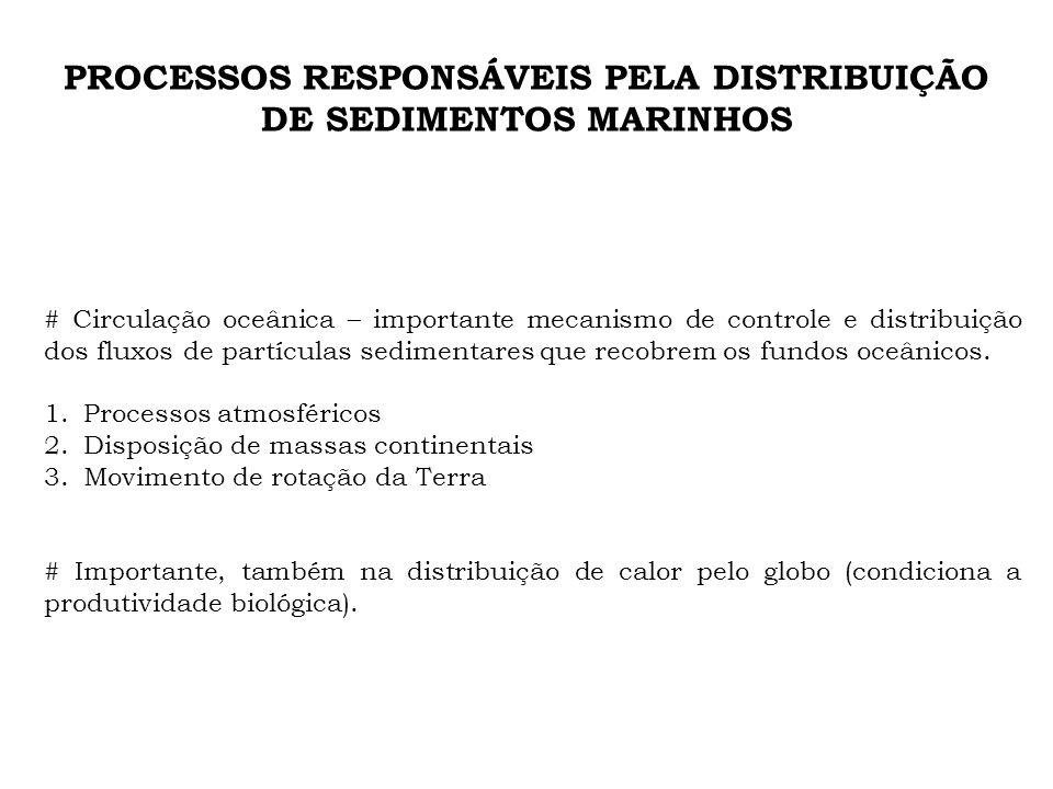 PROCESSOS RESPONSÁVEIS PELA DISTRIBUIÇÃO DE SEDIMENTOS MARINHOS