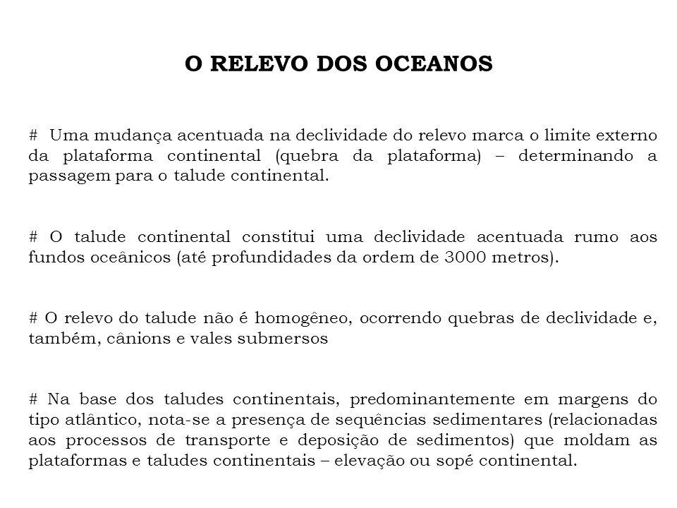 O RELEVO DOS OCEANOS