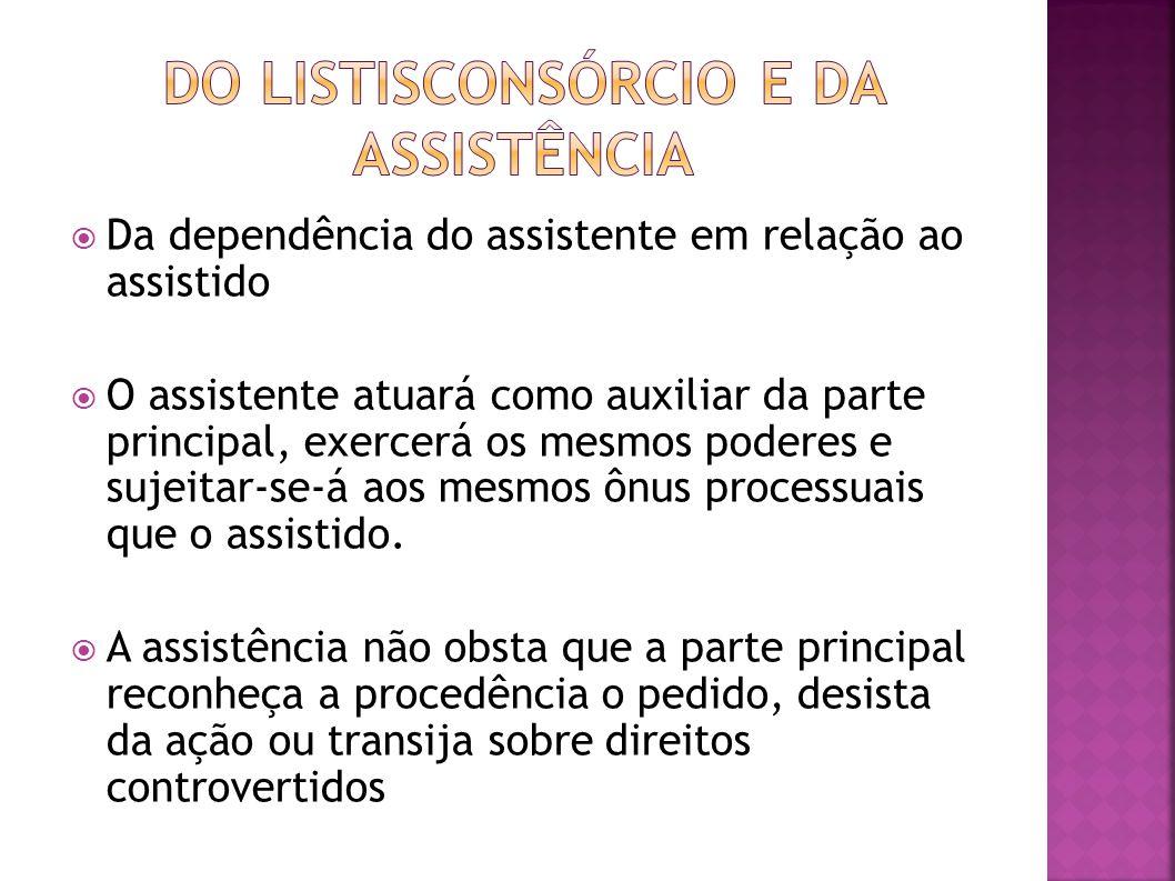 DO LISTISCONSÓRCIO E DA ASSISTÊNCIA