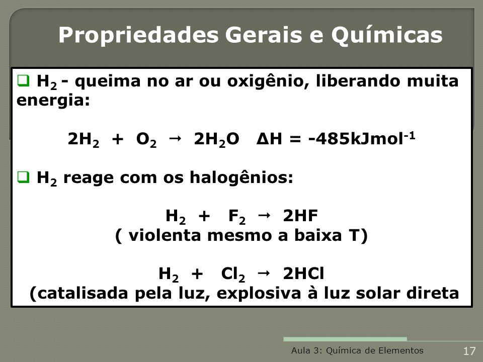 Propriedades Gerais e Químicas