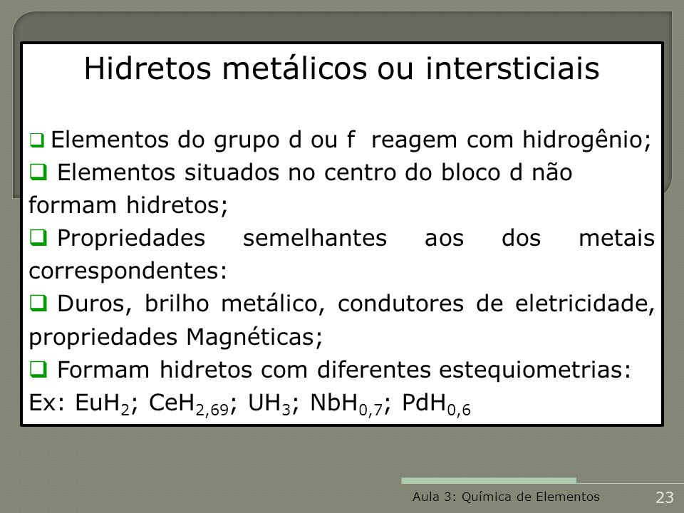 Hidretos metálicos ou intersticiais