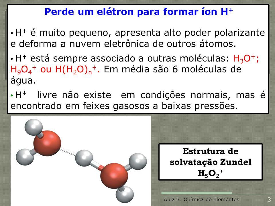 Estrutura de solvatação Zundel H5O2+