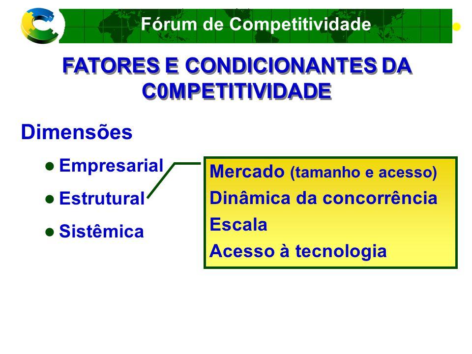 FATORES E CONDICIONANTES DA C0MPETITIVIDADE